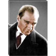 Kanvas Kızgın Bakan Atatürk Tablosu Renkli Atatürk Portresi Atatrap02d