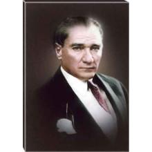 Kanvas Atatürk Tablosu Renkli Atatürk Portresi Atatrap14d