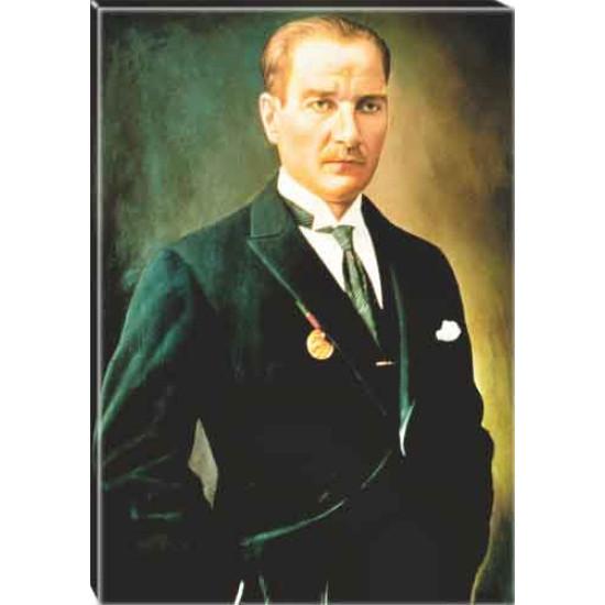 Kanvas Atatürk Tablosu Renkli Atatürk Portresi Atatrap47d