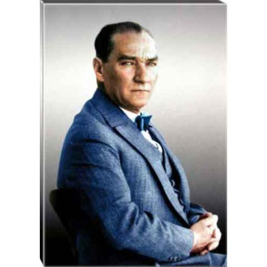 Kanvas Atatürk Tablosu Renkli Atatürk Portresi Atatrap51d