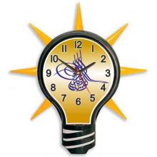 AKP Ampul Duvar Saati Osmanlı Tuğrası Resimli Ampul Şeklinde Duvar Saati 39x43cm AKPDSA03NOT