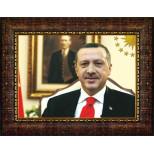 AKP Cumhurbaşkanı Recep Tayyip Erdoğan Resmi Çerçeveli Resim AKPCR01TEY