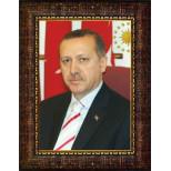 AKP Cumhurbaşkanı Recep Tayyip Erdoğan Resmi Çerçeveli Resim AKPCR02TED