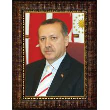 AKP Çerçeveli Cumhurbaşkanı Recep Tayyip Erdoğan Resmi 32x45 50x70 70x100 100x150 cm AKPCR02TED