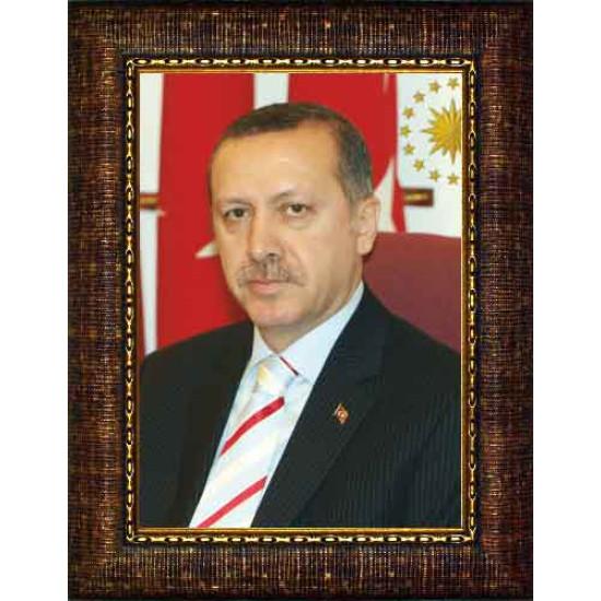 Akp Çerçeveli Resim Cumhurbaşkanı Recep Tayyip Erdoğan Resmi Akpcr02ted