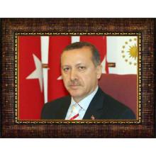 AKP Cumhurbaşkanı Recep Tayyip Erdoğan Resmi Çerçeveli Resim AKPCR02TEY