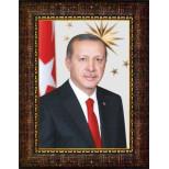 AKP Çerçeveli Cumhurbaşkanı Recep Tayyip Erdoğan Resmi 32x45 50x70 70x100 100x150 cm AKPCR03TED