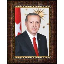 AKP Cumhurbaşkanı Recep Tayyip Erdoğan Resmi Çerçeveli Resim AKPCR03TED
