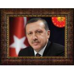 AKP Cumhurbaşkanı Recep Tayyip Erdoğan Resmi Çerçeveli Resim 45x32-70x50-100x70-150x100cm AKPCR04TEY