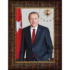 Akp Çerçeveli Resim Cumhurbaşkanı Recep Tayyip Erdoğan Resmi Akpcr05ted