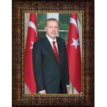 AKP Cumhurbaşkanı Recep Tayyip Erdoğan Resmi Çerçeveli Resim 32x45 50x70 70x100 100x150 cm AKPCR06TED