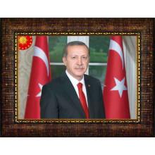 AKP Cumhurbaşkanı Recep Tayyip Erdoğan Resmi Çerçeveli Resim AKPCR06TEY