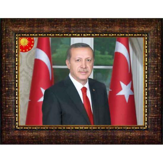 Akp Çerçeveli Resim Cumhurbaşkanı Recep Tayyip Erdoğan Resmi Akpcr06tey