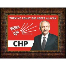 CHP Çerçeveli Kemal Kılıçdaroğlu Resmi Tablosu ve Sözü Satın Al CHPCR01KKY