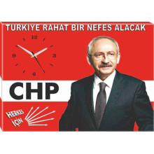 CHP Tuval Canvas Kemal Kılıçdaroğlu Duvar Saati Resmi Tablosu ve Sözü Satın Al CHPDST01KKY
