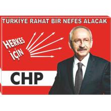 CHP Kanvas Kemal Kılıçdaroğlu ve Sözü Tablosu 45x32 70x50 100x70 150x100 cm CHPTR01KKY