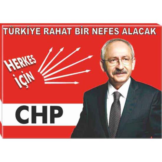 Chp Kanvas Tablo Kemal Kılıçdaroğlu Tablosu ve Kılıçdaroğlunun Türkiye ile İlgili Sözü Yazılı Tablo Chptr01kky