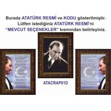 RSK Atatürk ve İstiklal Marşı ve Gençliğe Hitabe Resmi Çerçeveli Resim Üçlü Set (3 resim) 32x45-50x70-70x100-100x150cm RSKCR33R3DY