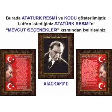 RSK Çerçeveli Resim İstiklal Marşı ve Gençliğe Hitabe ve Atatürk Portresi Üçlü Set (3 resim) RSKCR34R3DY