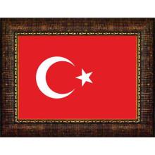 ANI Çerçeveli Türk Bayrağı Resmi 45x32 70x50 100x70 150x100 cm ANICR01BRY