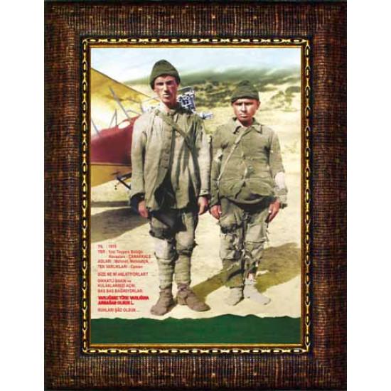 Çerçeveli Resim 1915 Yılı 1nci Tayyare Bölüğü Çanakkale Çocukları Resmi Anicr02ccd