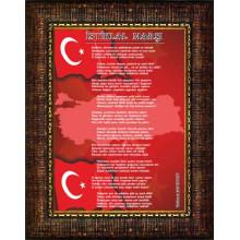 ANI Çerçeveli İstiklal Marşı Resmi Tablosu Satın Al ANICR12IMD