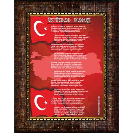 Çerçeveli Resim İstiklal Marşı Resmi Anicr12imd