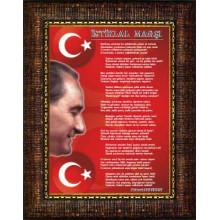 ANI Çerçeveli İstiklal Marşı Resmi Tablosu Satın Al ANICR14IMD