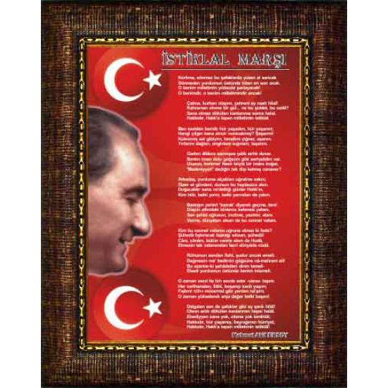 Çerçeveli Resim İstiklal Marşı Resmi Anicr14imd