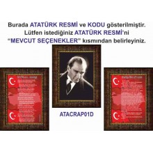 ANI Atatürk ve İstiklal Marşı ve Gençliğe Hitabe Resmi Çerçeveli Resim Üçlü Set (3 resim) ANICR32R3DY