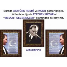 ANI Çerçeveli Resim Atatürk ve İstiklal Marşı ve Gençliğe Hitabe Üçlü Set (3 resim) ANICR33R3DY