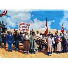 ANI Cumhuriyeti Biz Böyle Kazandık Resmi Tuval Canvas Tablo ANITR03CUY