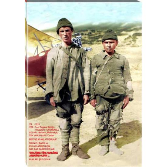 Kanvas Tablo 1915 Yılı 1nci Tayyare Bölüğü Çanakkale Çocukları Tablosu Anitr02ccd