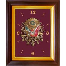 ANI Osmanlı Arması Resimli Duvar Saati Resmi Tablosu Satın Al ANIDSR04OAD