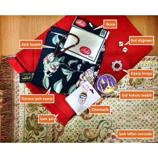 Karaca Eşarp Seti Takım Halinde Aniset01esa